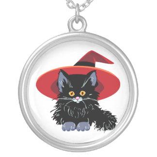 Gato negro del feliz Halloween Colgante