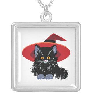 Gato negro del feliz Halloween Joyerias