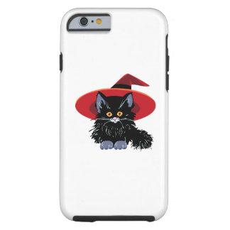 Gato negro del feliz Halloween Funda De iPhone 6 Tough