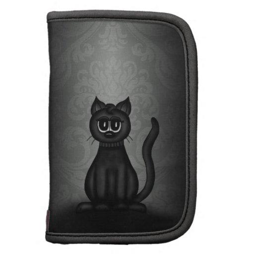 Gato negro del gótico planificadores