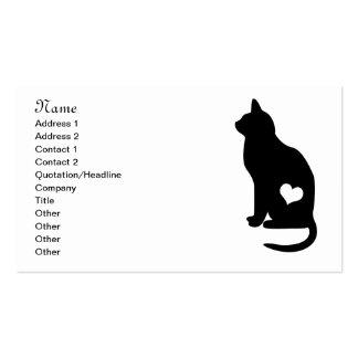 Gato negro del negocio tarjetas de visita