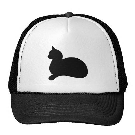 Gato negro descarado gorro