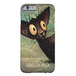 Gato negro divertido funda de iPhone 6 barely there