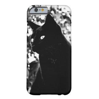 Gato negro elegante - caso del iPhone 6 Funda Para iPhone 6 Barely There