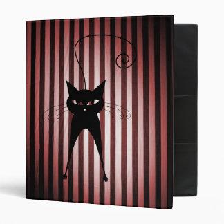 """Gato negro en rayas negras y rojas carpeta 1"""""""