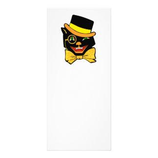 Gato negro en un sombrero de copa lona publicitaria