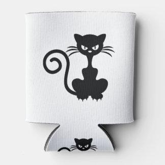Gato negro enfriador de latas