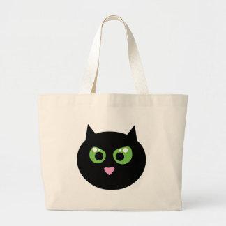 Gato negro enojado bolsa