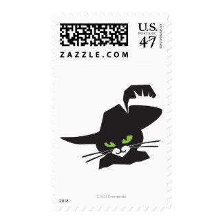 Gato negro estampilla
