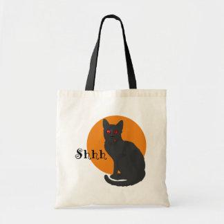 Gato negro fantasmagórico - bolso de la chuchería bolsas