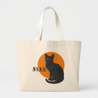 Gato negro fantasmagórico - bolso de la chuchería bolsas de mano