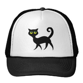 Gato negro fantasmagórico gorros bordados
