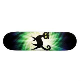 Gato negro fantasmagórico patineta personalizada