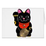 Gato negro felicitación
