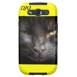 Gato negro galaxy s3 cárcasa