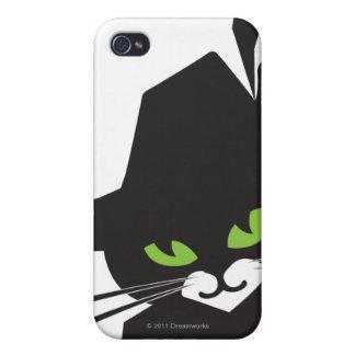 Gato negro iPhone 4 carcasas