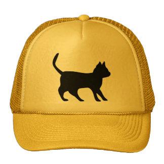 Gato negro gorras de camionero