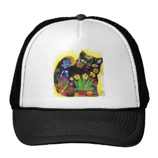 Gato negro gorras