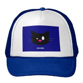 gato negro gorro