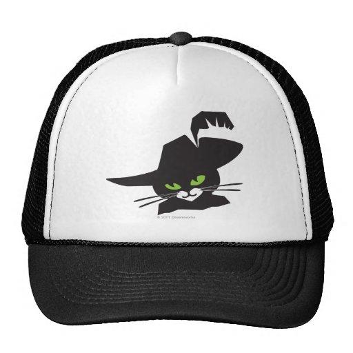 Gato negro gorros bordados