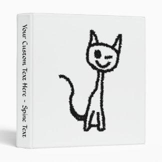 """Gato negro, guiñando carpeta 1"""""""