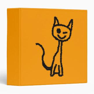"""Gato negro, guiñando carpeta 1 1/2"""""""