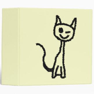 """Gato negro, guiñando carpeta 2"""""""