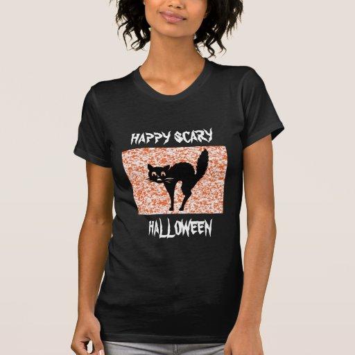 Gato negro - Halloween Camiseta