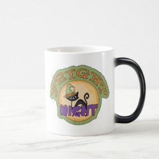 Gato negro Halloween lindo de la noche del susto Taza De Café