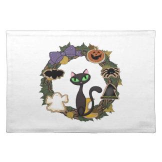 Gato negro Halloween Manteles