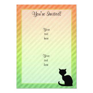 Gato negro invitación 12,7 x 17,8 cm