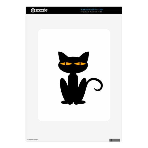 Gato negro iPad skin