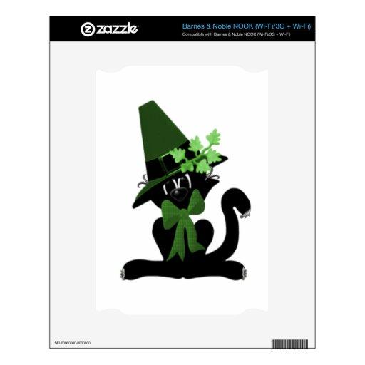 Gato negro irlandés skin para el NOOK