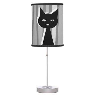 Gato negro lámpara de escritorio