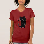 Gato negro lindo camisetas