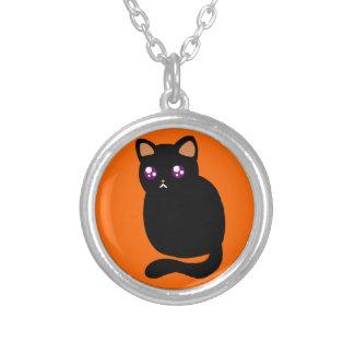 Gato negro lindo de Halloween Joyerias