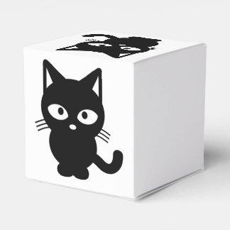 Gato negro lindo de Halloween, gatito amistoso Cajas Para Regalos De Boda