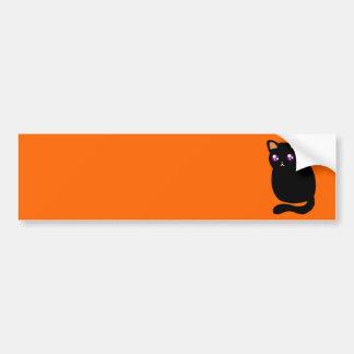 Gato negro lindo de Halloween Pegatina Para Auto