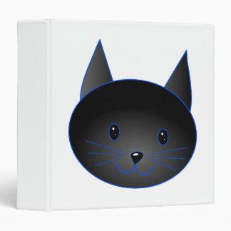 "Gato negro lindo. Ejemplo del dibujo animado del Carpeta 1 1/2"""
