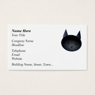 Gato negro lindo. Ejemplo del dibujo animado del Tarjetas De Visita