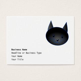 Gato negro lindo. Ejemplo del dibujo animado del Tarjetas De Visita Grandes