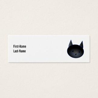 Gato negro lindo. Ejemplo del dibujo animado del Tarjetas De Visita Mini