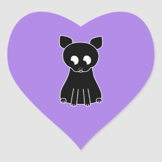 Gato negro lindo etiqueta