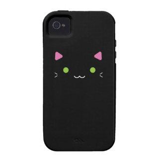 Gato negro lindo iPhone 4/4S funda