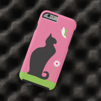 Gato negro lindo funda para iPhone 6 tough