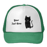 Gato negro lindo gorra