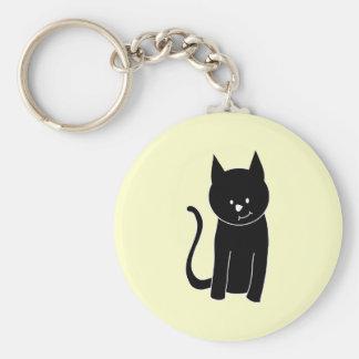 Gato negro lindo llaveros