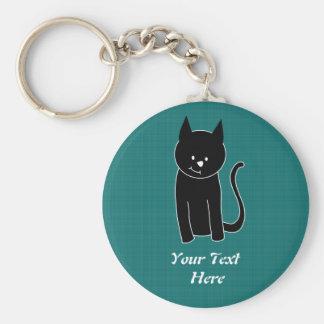 Gato negro lindo llavero personalizado