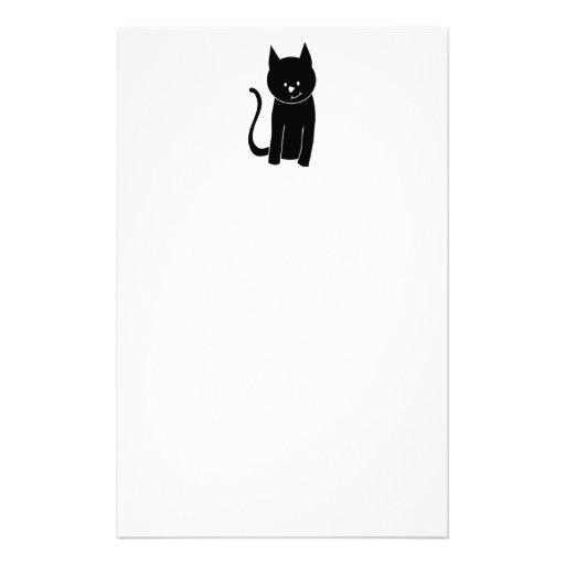 Gato negro lindo papelería