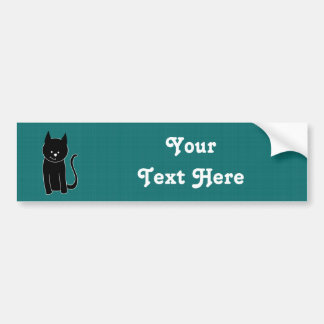 Gato negro lindo pegatina para auto